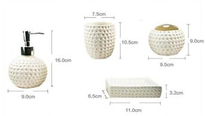 Red China Black, white Thread floral patterns Ceramics Bathroom accessories toothbrush holder Wedding Gifts white Thread floral patterns