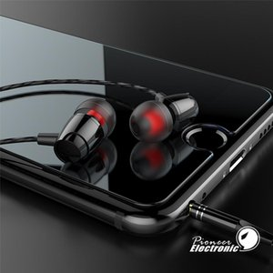 High Quality Metal Bulk Wire Headphones Heavy Bass Game In -Ear Headset 3 .5mm Sports Earphones For Mobile Phone Pc Mp3 Mp4 Samsung S8 S7