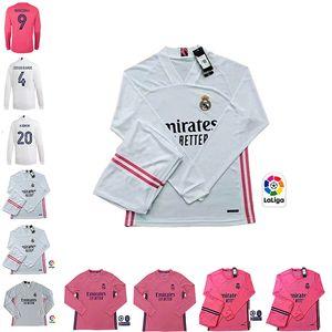 20 21 vrais maillots de football manches longues Madrid RISQUE VALVERDE RODRGO de camiseta 2020 2021 VINICIUS ASENSIO équipement pour enfants chemise de football