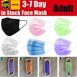 8 Farben Einweg-Gesichtsmasken Schwarz-Rosa-Weiß mit elastischem Ohr Loop 3-Schicht-Masken mit Earloops für Salon Home Use Komfortable Masken