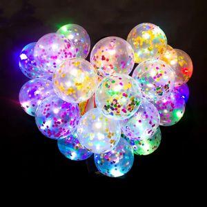 12pcs Babyshower Confetti Balloon Birthday Party Decorations Adult New Year Decoration 2020 Love Confession Decorative Ballon