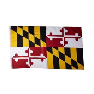 Maryland Flagge Bundesstaat USA Banner 3x5 ft 90x150cm State Flag Festival Party Geschenk 100D Polyester Indoor Outdoor Printed Hot iqgat