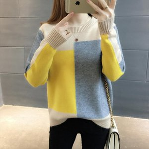 Sueter mujer invierno 2019 winter clothes women korean top knit sweater women sweater ladies soild Pullovers Thick O Neck 0359