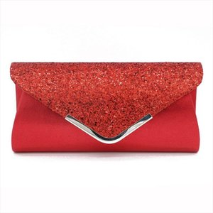 Fashion PVC Women Evening Clutches Bag Sequin Female Crossbody Bag Ladies Envelope Purse For Party Pink Silver Handbags Ladies