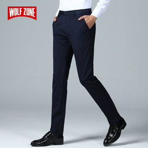 Brand Spring Summer Pants Men Fashion Casual Elastic Long Trousers Male Straight Business Suit Pants Large Size 29-40 CX200824