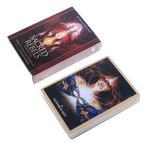 Tarot de table Jeux Divination Jeu Tarot English Cartes Party Version Divertissement Carte plate-forme destin Jeu de société Sacred 45 Oracle HQrJS