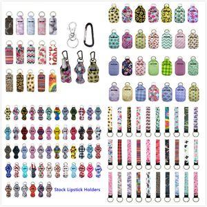 229 Styles Neopren Hand Sanitizer Flaschenhalter Schlüssel Taschen 30ml Hand Sanitizer Flasche Wristlet Schlüsselanhänger Chapstick-Halter