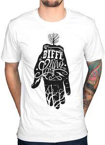 Biffy Clyro Mão T Camisa oficial das mulheres dos homens Camiseta de moda cool 100% T-shirt de algodão