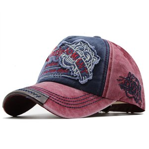 Hats New Tiger Head Embroidered High Quality Trendy Men's and Women's Baseball Outdoor Cap