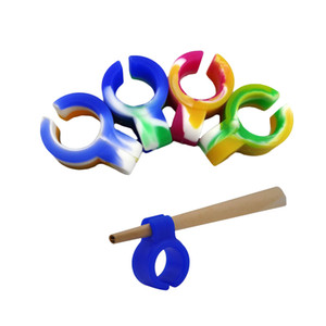 Smoking Clip regular size Colorful Convenient Silicone Finger Cigarette ring Cigarette Ring Holder DHL fast shipping