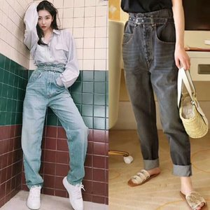 Frauen 2020ISABEL MARANT Bud Jeans Vintage hohe Taille Kegel mit Gürtel Hose verlieren Broad Beine Herbst Winter