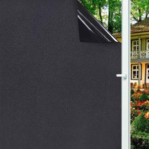 Съемная 100% Light Blocking Static Total Blackout Window Film Privacy Номер Потемнение Окно Оттенок Стикер окна