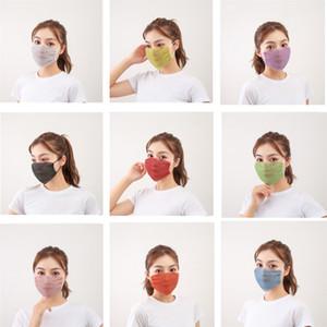 Nouveau visage Masque Visage Masques Mode Femme adulte Masque Drill Masque Masques Protection solaire Été Décoration strass Facemask