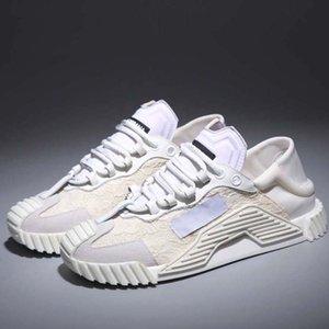 New Fashion Melhor couro verdadeiro qualidade Handmade Multicolor Gradiente tecido técnico sneakers mulheres sapatos famosos formadores SH02 D09