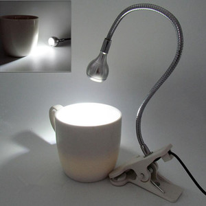 Клип держатель питания USB Светодиодный светильник стола Гибкая Настольная лампа прикроватная лампа свет книги для гостиной дома украшения спальни