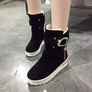 WGZNYN 2020 Женщины Winter Boots Mid-теленок снег сапоги Теплый меха Женский женщина Обувь Chaussures Botas Mujer Размер 35-41