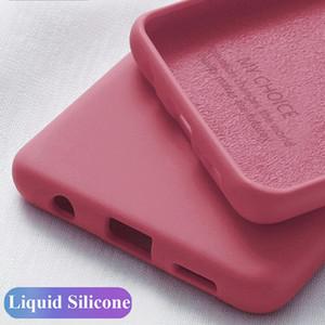 Silicone Líquido Phone Case para Samsung A51 A71 S20 Plus Ultra Nota A30 A50 A70 A7 2018 S10 S9 S8 S7 10 9 8 Plus Tampa Original