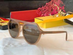 0375 designer Sunglasses For women Fashion Sun Glass Oval Frame Coating Mirror UV400 Lens Carbon Fiber Legs Summer Style Eyewear