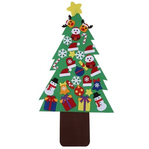 31Pcs  Set DIY Christmas Tree ic Felt Creative Jigsaw Puzzle Toy for Festival Party Christmas Gift for Children DIY