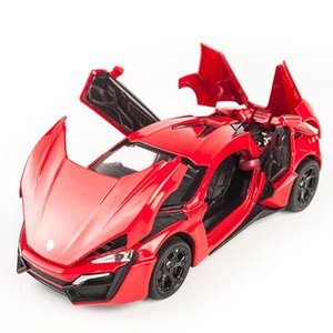 01:32 Lykan Hypersport Voitures Véhicules Diecast Model Toy Métal Pull Ba Car pour les enfants Cadeaux pour enfants