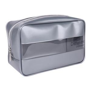 Fashion Transparent PVC Waterproof Cosmetic Bag Men Women Travel Large Capacity Makeup Necessaire Organizer