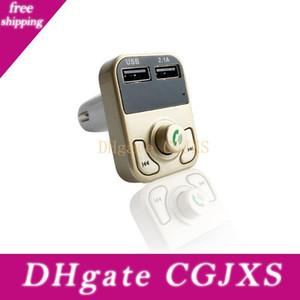 B3 universal transmisor inalámbrico de FM TF tarjeta de llamada Manos libres Bluetooth coche reproductor de MP3 dual del USB del teléfono celular del cargador automático