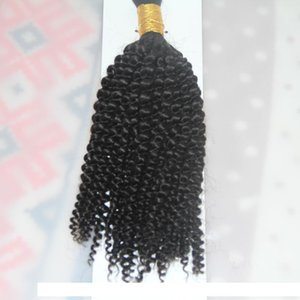 H 1 Jet Black 1 Bundles 10 To 26 Inch Human Braiding Hair Bulk No Weft Mongolian Afro Kinky Curly Bulk Hair For Braiding