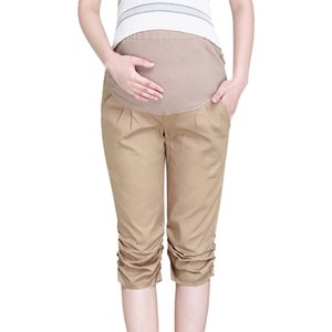Women Maternity Clothings Clearance Womens Calf-Length Pregnancy Casual High Waist Pregnant Pants