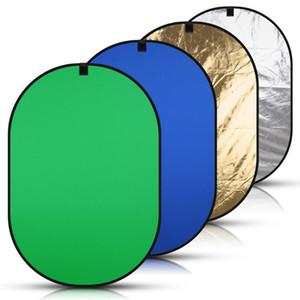 캐리 가방 150 * 200cm 4IN1 휴대용 백 드롭 블루 녹색 화면 크로 마키 축소 배경 사진 라이트 리플렉터