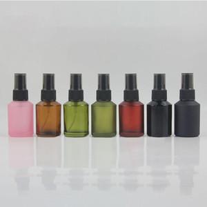 Botella 30ml niebla fina de cristal de perfume empaquetado cosmético, 1 oz niebla de pulverización botella con bomba