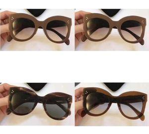 Hot sale High quality Xams Designer women CHRIS 41443 Black Gray Sunglasses 50mm fashion brand Sungl jB054