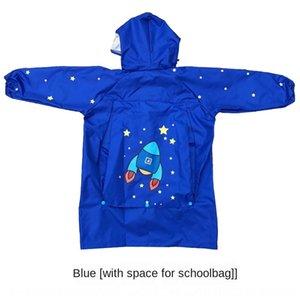 Utxji hat schoolbags meninos e meninas borda infantil chuva capa de chuva grande bebê pupils manto da escola com poncho kindergarten flbwr