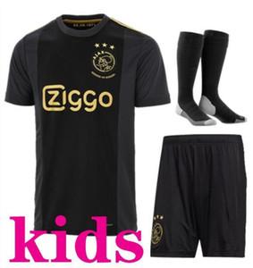 50. schwarzes Kind Thai Qualität 2020 2021 Ajax FC Kinder Kits + Socken Fußball-Trikot 20 21 KLAASSEN FISCHEA Bazoer Uniformen Shirt Baby Ajax