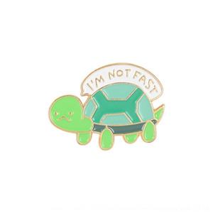 Kreative kleine Hot-Verkauf Brosche neue nette Huhn-Cartoon Schildkröte Schildkröte Schildkröte Tier gesichtslos Junge Brosche CFQZe
