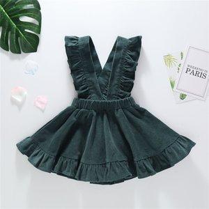 Clearance Excelent New summer Dress Mesh Girls Toddler Baby Kids Girls Ruffle Summer Overall Princess Dresses Clothes Z0205