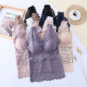 2020 New Plus Size Vest Women Tops Lace Lingerie Feminina Sexy Hot Push Up Bralette Wireless Brassiere