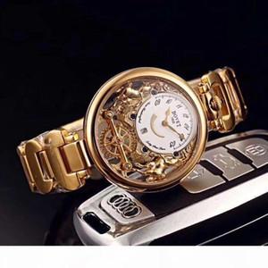 2020 Bovet cuarzo suizo del reloj para hombre Amadeo Fleurier Esqueleto Blanco Dial relojes pulsera de acero inoxidable Relojes Timezonewatch