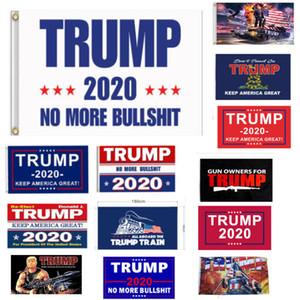 New Trump Flag Hanging 90*150cm Trump Keep America Great Banners 3x5ft Digital Print Donald Trump 2020 Flag 16 Colors Decor Banner HH7-1988