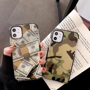 Designer Camouflage-Muster-Dollar-Aufkleber Etikett Telefonkasten für iPhone 11 Pro X XS MAX 7 8 6 und weiches Silikon klar Abdeckung für iphone 11
