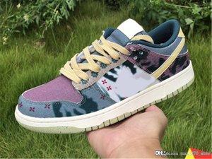 2020 LançamentoSbDunk Low SP Lemon Wash Multi-Color / Meia-noite Turquesa-Cardinal Red-limão Wash CZ9747-900 Running Shoes autênticos
