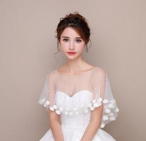 Korean style bridal mesh lace wedding dress shawl summer coat pullover small pullover cloak cover arm Sunscreen thin sunscreen Afiqq