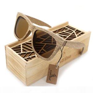 BOBO BIRD BRAND AG007 WOOD SUNGLASSES Handmade Nature Wooden Polarized Sunglasses New Eyewear With Creative Wooden Gift Box