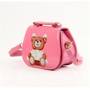 Presentes dos miúdos bolsas das meninas da criança Bolsa Kid Mini Messenger Bag Crianças PU Shell Um saco de ombro