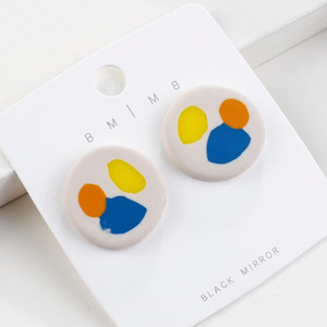 GU-160 New Kroean Polymer Clay Earrings For Women 2020 Unique Palette Painting Statement Earrings Fashion Jewelry