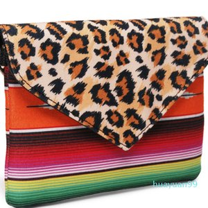 Cuoio Leopard New-all'ingrosso del cinturino dell'orologio Pochette della tela di canapa Serape Crossbody borsa leopardo Stripes frizione Donne ghepardo Borsa a tracolla DOM1474