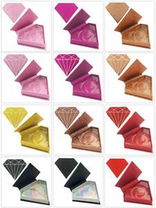 Wholesale Luxury Unique Diamond Shape False Eyelash Boxes Private Label Cosmetic Eyelashes Box Pink Eyelash Packaging Box For Lashes No Logo