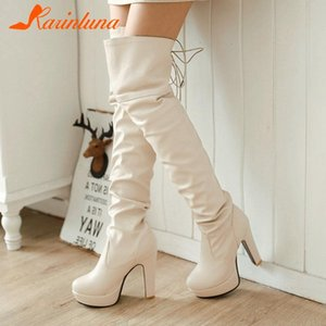Karin 2020 New Fashion Woman Shoes Casual Over-the-knee Platform Thick Heels Boots