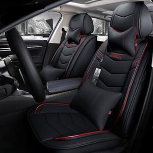 Sedan Tam Set Tasarımı Dayanıklı Yüksek Kaliteli Deri Koltuklar Kapaklar Yastık Mats İçin SUV için Universal Araç Aksesuarları İç Oto Koltuk Örtüleri