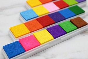 Hot école d'empreintes digitales encre Pad pour Timbres en caoutchouc Scrapbooking coloré Inkpad timbre d'étanchéité Décoration Carte stencil Bricolage Artisanat