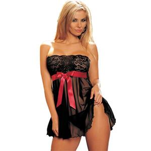 Женщины дамы кружева сексуальное белье Белье женское платье Ночное белье Babydoll пижамы сна Tops S-6XL